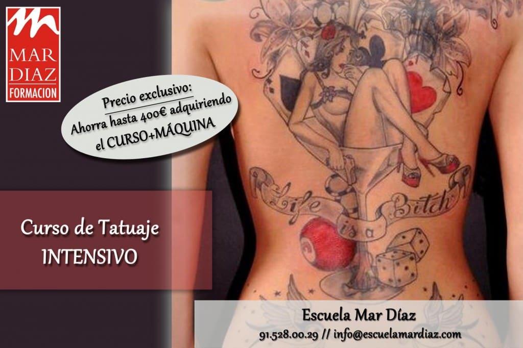 Cursos de tatuaje profesional en Escuela Mar Díaz