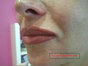 Perfilado y difuminado - Maquillaje permanente en labios