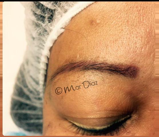 Corrección cejas rojas - Micropigmentación