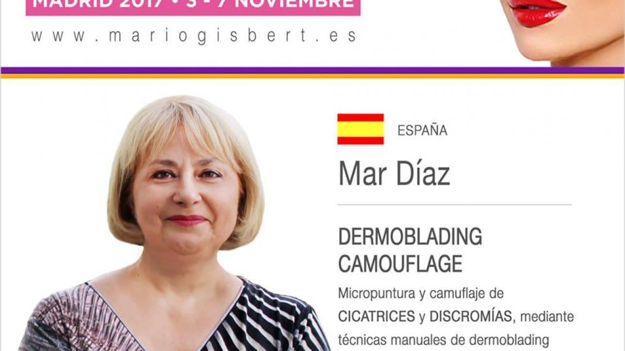 Mar Díaz experta en el segundo congreso hispanoamericano de micropigmentación en Madrid