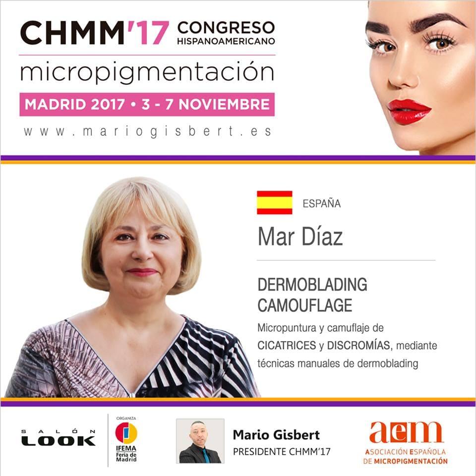 II congreso de micropigmentación en Madrid con Mar Díaz como ponente